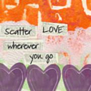 Scatter Love Art Print by Linda Woods
