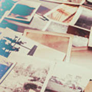 Scattered Collage Of Old Film Photography Art Print
