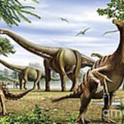 Scelidosaurus, Nothronychus Art Print