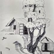 Scene Behind Rural Art Print