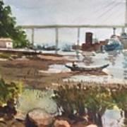 Scene Beside Inlet Art Print