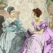 Scene From Anthony Trollope's Novel He Knew He Was Right Art Print