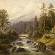 Scene From Weyer Upper Austria Art Print
