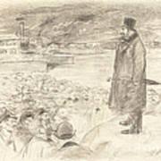 Scene Of A Strike (third Plate) Art Print