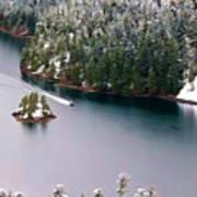 Scene Over Diablo Lake Art Print