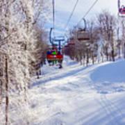 Scenery Around Timberline Ski Resort West Virginia Art Print