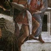 Scenes From The Life Of Moses Detail Alessandro Botticelli Art Print