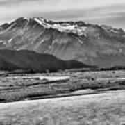 Scenic Alaska Bw Art Print