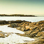 Scenic Coastal Dusk Art Print