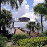 Scenic Melbourne Beach Pier  Florida Art Print