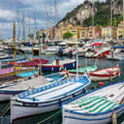 Scenic View Of Castle Hill And Marina In Nice, France Art Print