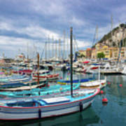Scenic View Of Historical Marina In Nice, France Art Print