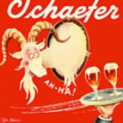 Schaefer Beer Vintage Ad Art Print