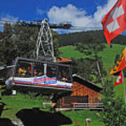 Schilthorn Cable Car Murren Art Print