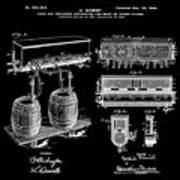 Schmidts Of Philadelphia Cold Beer Tap In Black Art Print