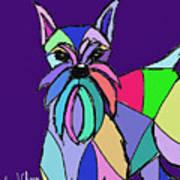 Schnauzer Colors Art Print
