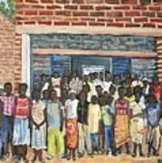 School Class Burkina Faso Series Art Print
