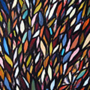 School Of Anchovies Abstract 2 Art Print