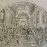 School Of Athens/ Homage To Raphael Art Print