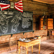 Schoolhouse Classroom At Old World Wisconsin Art Print
