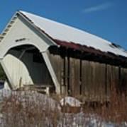 Schoolhouse Covered Bridge Art Print