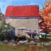 Schoolhouse Farm, Warren, Maine Art Print