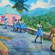 School's Out In Jamaica Art Print