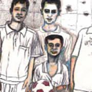 Schoolyard Chums Art Print by Al Goldfarb