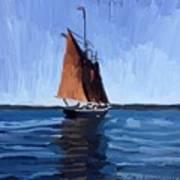 Schooner Roseway In Gloucester Harbor Art Print