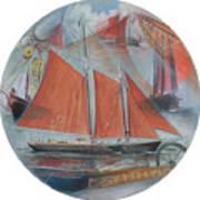 Schooner Roseway Art Print