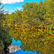 Schroon River Reflection In The Adirondacks-new York Art Print