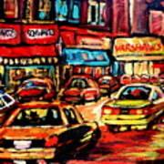 Schwartz's Deli At Night Art Print
