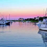Scituate Harbor Sunset Art Print
