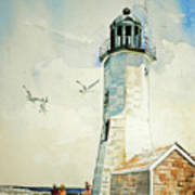 Scituate Light Art Print