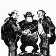 Scopes Trial Cartoon 1925 Art Print