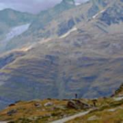 Scoping The Alps Art Print