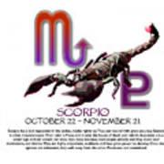 Scorpio Sun Sign Art Print