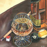 Scotch Cigars And Pool Art Print