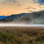Scotland Mist In Widescape Art Print