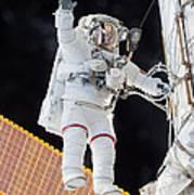 Scott Kelly, Expedition 46 Spacewalk Art Print