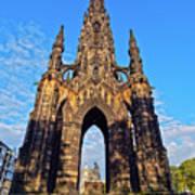 Scott Monument, Edinburgh, Scotland Art Print