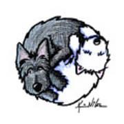 Scottie Westie Yin Yang Art Print