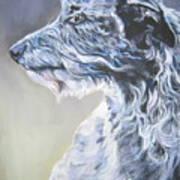 Scottish Deerhound Art Print by Lee Ann Shepard