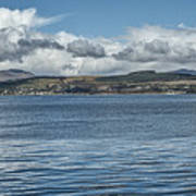 Scottish Panorama Over The River Clyde Art Print