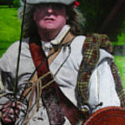 Scottish Soldier Of The Sealed Knot At The Ruthin Seige Re-enactment Art Print