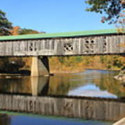 Scotts Covered Bridge West River Art Print
