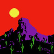 Scottsdale Mountain Art Print