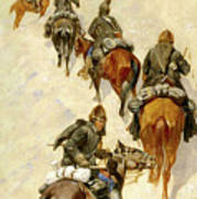 Scouts Climbing A Mountain Art Print