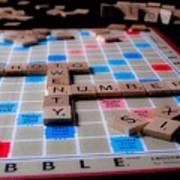 Scrabble Art Print
