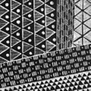 Scratchboard Kapa Pattern 1 Art Print